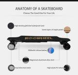 DIY 2 Motor Longboard lud das 4 Rad-elektrische Skateboard mit drahtlosem Bluetooth auf