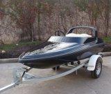 Barca di corsa ad alta velocità di sport di Firberglass con il motore esterno
