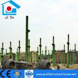 Konkrete Basis mit Ankerbolzen für Stahlkonstruktion-Rahmen-Gebäude