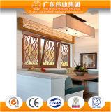 Aluminium de couleur d'usine fiable de la Chine/aluminium/guichet en bois de spire inclinaison d'Aluminio