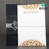 Tarjeta lujosa de la invitación de la boda 2018 con el papel de embalaje