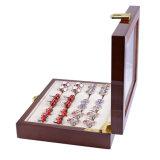 Joyas de lujo en caja de vidrio de 12 pares de anillo de la capacidad de almacenamiento de verificación
