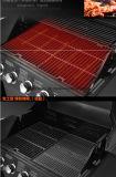 Горячая оптовая продажа сбывания напольная и решетка BBQ газа эмали сада бездымная с 5 горелками