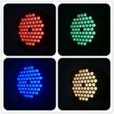 Gbr DMX512 디스코 DJ는 점화 싼 54PCS 3W RGBW LED 동위 빛을 상연한다