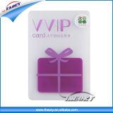 Cartão de PVC transparente Cartões cartões de membro Tamanho personalizado