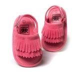 Ходоки Unisex сандалий Prewalker лета Tassel младенца резиновый единственных Non-Slip первые