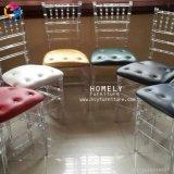 Résine moderne Chiavari chaise avec coussin de couleur de la mode