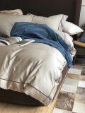 De duidelijke Reeks van het Beddegoed van de Kleur 100%Cotton 4PCS (Warme white&Brown)