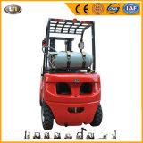 Pequenas 1,5 ton 1500kg gasolina GLP motor Nissan combustível duplo carro elevador