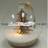 LED de iluminação travando ornamentos de esferas de vidro de Natal