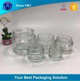 10g15g30g50g tarro de vidrio transparente de cosméticos para el cuidado de la piel Crema con tapón de rosca