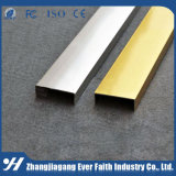 Profilé en u d'or de couleur d'extrusion en aluminium professionnelle de profil