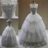 Оптовая торговля дешевые Лиф Crystal шарик платье устраивающих свадебные платья 2018