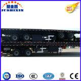 Eje 2 /40 pies de superficie plana de 20 pies de camiones de remolque de la plataforma de transporte de contenedores