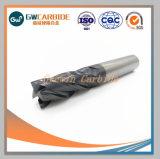 Usines de carbure de tungstène à bout plat pour usage de la machine CNC