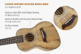 Ukulele do bordo de Spalted da alta qualidade do tipo de China Aiersi de 21 polegadas