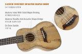 21-дюймовый Китай торговой марки Aiersi Spalted Maple Ukulele высокого качества
