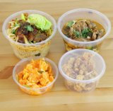 PPのプラスチックのゆとりのお弁当箱のあたりで行く乾燥した食糧収納箱の高品質のプラスチック