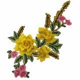 Конструкция Fleur De Lis Applique цветка полиэфира Availabel Stock для платья