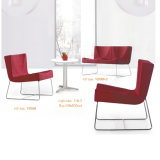 現代多彩なステンレス鋼のオフィスの余暇の椅子