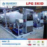 Lpg-Tankstelle, LPG-Brennstoffaufnahme-Schiene, LPG eingehangene Schiene, LPG-bewegliche Station, 5mt, 10mt, 20mt, 30mt LPG Becken mit LPG-Pumpe und Schuppe,