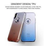 Couverture hybride duelle protectrice de cas de dos de mobile de scintillement pour l'iPhone 8