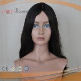 バージンの毛の黒カラー女性のかつら(PPG-l-01596)