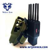 手持ち型の8つのバンド携帯電話のWiFi GPSのシグナルの妨害機(ナイロンケースと)