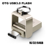 USB 섬광 드라이브 32GB OTG 금속 USB 3.0 펜 드라이브 키 64GB 유형 C 고속 Pendrive (TF-0103)