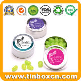 0.5Oz/15g en relieve la forma de pie chicles menta tin box para regalos