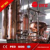 destilería de cobre del crisol 500L con la columna del whisky y el equipo de la destilación que elimina
