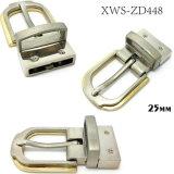A curvatura de correia reversível do Pin da curvatura da liga do zinco do metal da alta qualidade para o vestido cerca as bolsas das sapatas do vestuário (XWS-ZD448)
