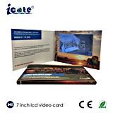 Новая поздравительная открытка видео-плейер прибытия 2016 брошюра видеоего размера LCD 7.0 дюймов большая