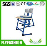 Escritorio y silla durables (SF-15D) del estudiante del doble de los muebles de la sala de clase