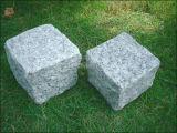 Luz - pedra cinzenta do lancil da pedra do cubo da pedra de pavimentação da cor