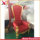 Migliore presidenza del trono del re e della regina di cerimonia nuziale della parte posteriore di vendita su per il ristorante dell'hotel