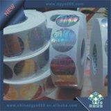 Holograma de rollo con la etiqueta adhesiva fuerte
