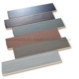 65x266mm color marrón oscuro y brillante diseño fácil y cómodo uso interior de la pared acristalada mosaico (DMC-2624)