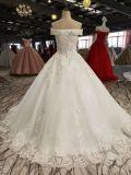 Сегодняшнее платье венчания длины пола мантии шарика рабата