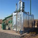Überschüssiges Motoröl und Motorrad-Öl, das Maschine aufbereitet