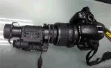Pega e a visão nocturna portátil com câmera de vídeo.