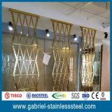 Декоративная перегородка рассекателей комнаты экрана нержавеющей стали