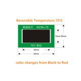 El cambio sensible al calor del color modificó la escritura de la etiqueta de la temperatura para requisitos particulares