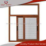 Wood Looking 3-Track Aluminum Sliding Window with Insect screen