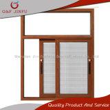 Le bois à la recherche 3 voies de vitre coulissante en aluminium avec écran d'insectes