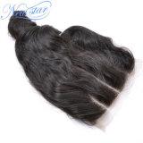 5X5レースの閉鎖の加工されていなく自然な中国の緩い巻き毛のHuamnの毛