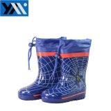 2018 солнечный синий паук текстильной втулку детей из натурального каучука высокого качества Wellingtons Rainboots кружева новый дизайн Wellies обувь для детей обувь