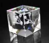 Alta calidad y cubo 3D y bloque cristalinos baratos