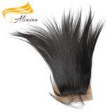 Fermetures de lacet de cheveu droit de prix de gros d'usine de la livraison rapide