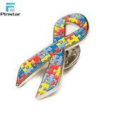 HIV unterstützt Pin-Abzeichen-Nächstenliebe-roten Decklack-Metallfarbband-Sicherheits-ReversPin